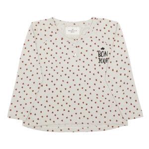 Longsleeved tshirt hearts print