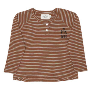 Longsleeved Tshirt stripes bon jour print