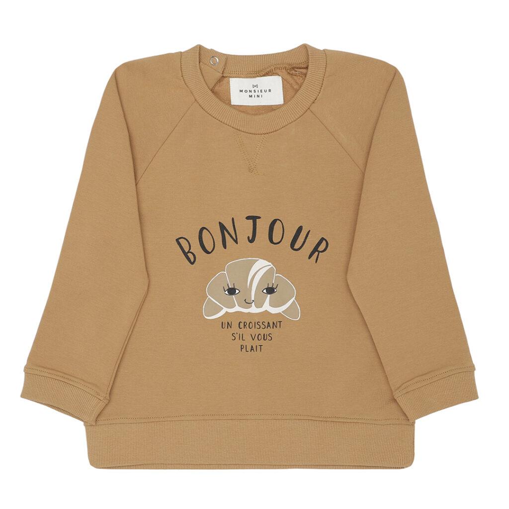bonjour croissant sweater børnetøj babytøj baby